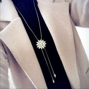 Fashion charm crystal rhinestone snowflake neckles